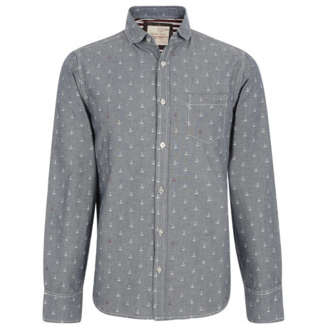 Brave Soul Anchor Printed Shirt Grey Image