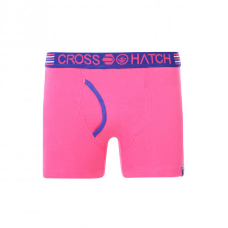 Crosshatch Plain Boxer Shorts Underwear Bright Magenta Image