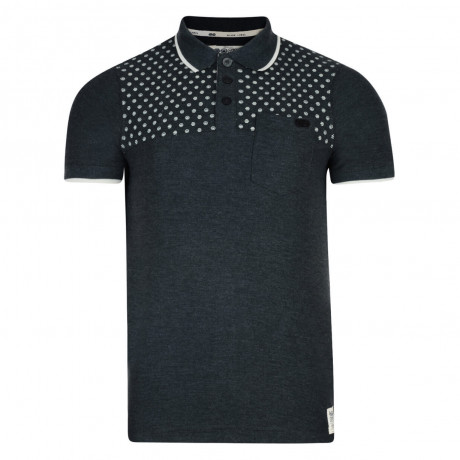 Crosshatch Bantex Polo Pique T-Shirt Charcoal Marl Image