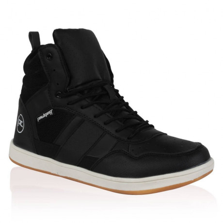 Rawcraft High Top Trainers Shoes Black Image