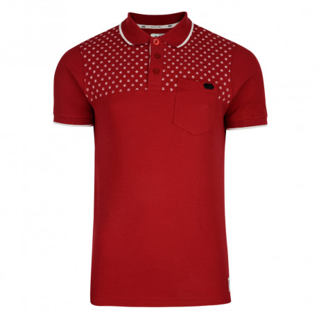 Crosshatch Bantex Polo Pique T-Shirt Chilli Red Image