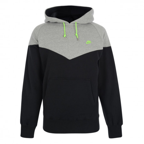 Nike Hooded Sweatshirt Hoodie Black Grey Image