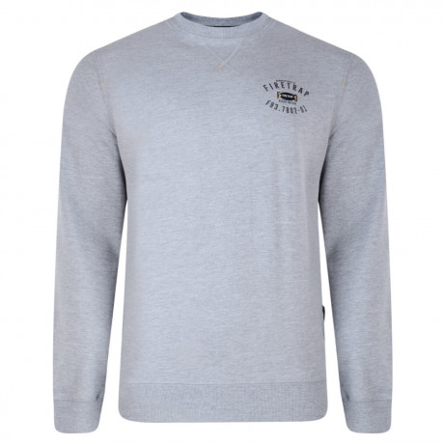 Firetrap Crew Neck Sweatshirt Solon Grey Marl Image
