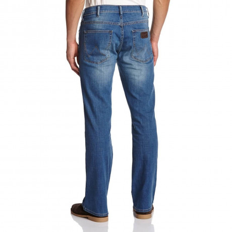 Wrangler Pittsboro Bootcut Jeans Aint Broke Blue Image