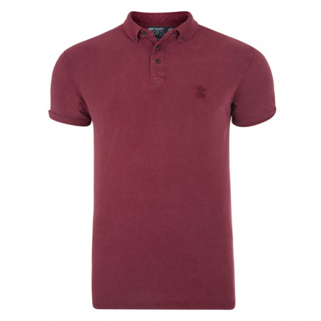 Soul Star Polo Pique T-Shirt Dark Red Image