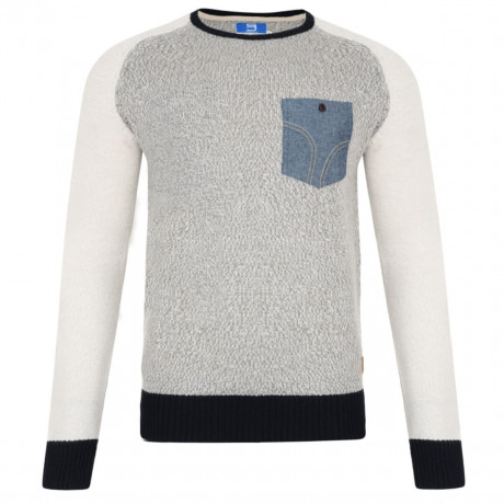 Smith & Jones Crew Neck Knitted Twister Jumper Charcoal Grey Image