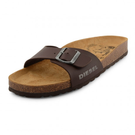 Diesel Mens Summer Beach Sandals Brown Image