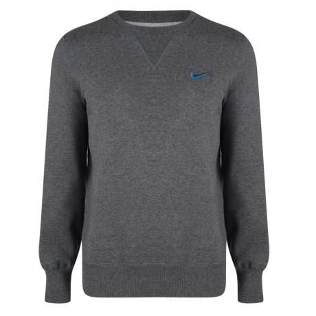 Nike Crew Neck Sweatshirt Jumper Dark Grey Image
