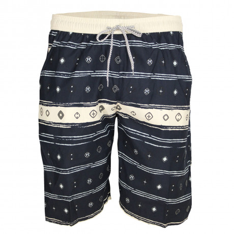 Soul Star Casual Summer Printed Shorts Navy Blue Image