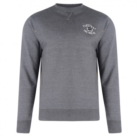 Firetrap Crew Neck Sweatshirt Solon Dark Shadow Grey  Image