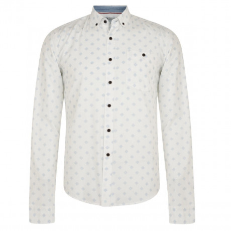 Smith & Jones Print Shirt Long Sleeve Cotton White Image