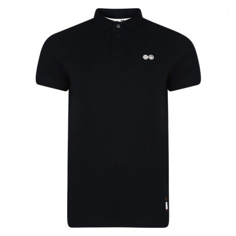 Crosshatch Bowden Polo Pique T-Shirt Black Image