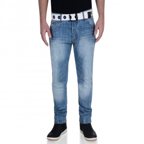 Firetrap Slim Fit Denim Jeans Light Stone Wash Blue Redfern Image