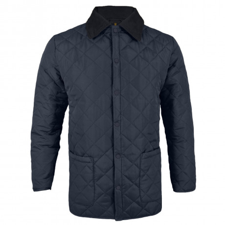 Soul Star Dimond Quilt Jacket Navy Blue Image
