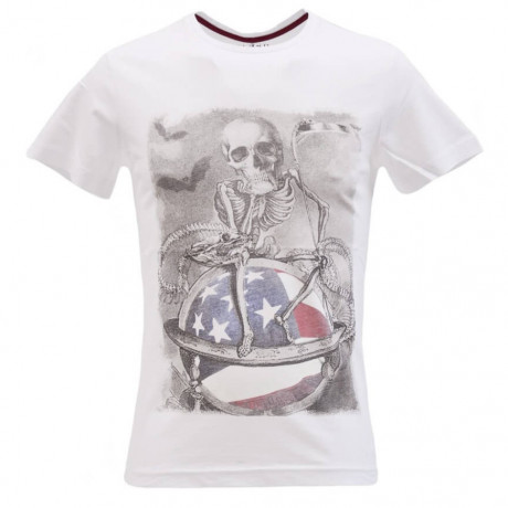 Blend Skull Printed T-shirt Off White Image