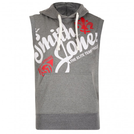Smith & Jones Sleeveless Hoodie Mid Grey Image