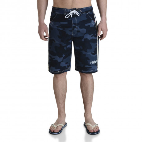 Smith & Jones Beach Swim Shorts & Flip Flop Set Camo Navy Image