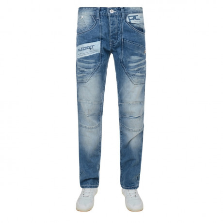 Rawcraft Loose Fit Denim Jeans Faded Blue Image