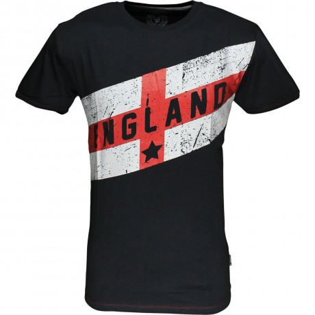 Soul Star England Flag T-shirt Navy Blue Image