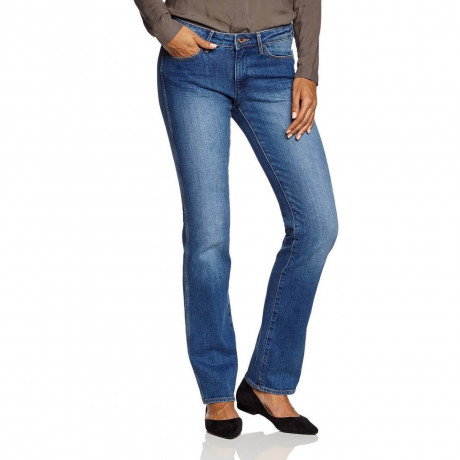 Wrangler Sara Stretch Denim Jeans Soft Blue Image
