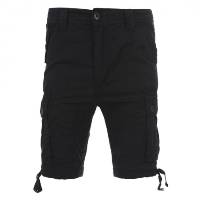 Soul Star Cargo Bermuda Shorts Black Image