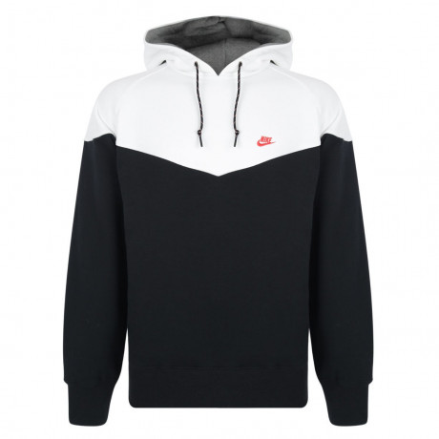 Nike Hooded Sweatshirt Hoodie Black White Image