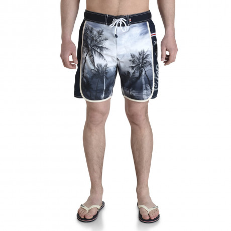 Smith & Jones Beach Swim Shorts & Flip Flop Set Kokomo Black Image