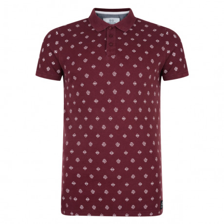 Crosshatch Repeater Polo Pique T-Shirt Tawny Wash Image