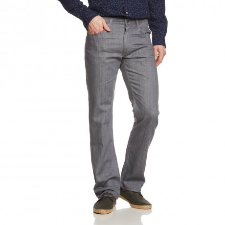 Lee Brooklyn Straight Stretch Jeans Grey Nite Image