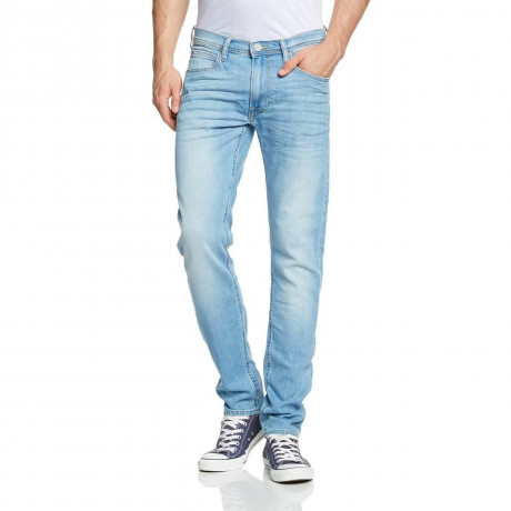 Lee Luke Slim Tapered Summer Soak Blue Denim Jeans Image