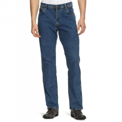 Wrangler Texas Stretch Jeans Stonewash Blue Image