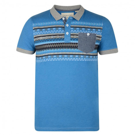 Conspiracy Polo Pique T-Shirt Blue Image