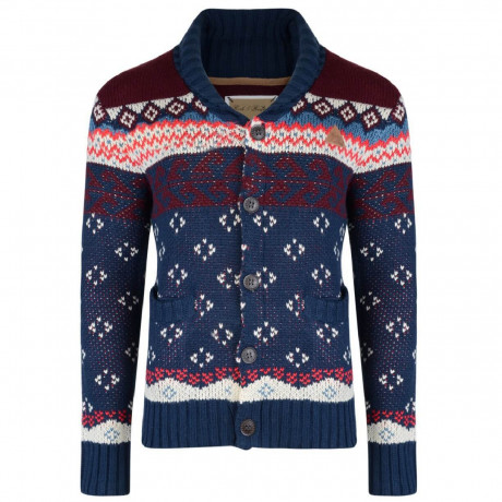 Rock & Revival Heavy Knit Lumox Cardigan Blue Image