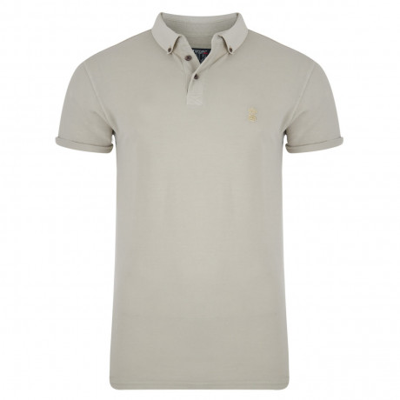 Soul Star Polo Pique T-Shirt Stone Image