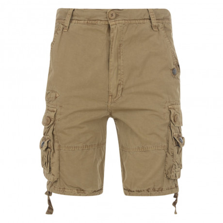Soul Star Casual Cargo Bermuda Shorts Sand Image