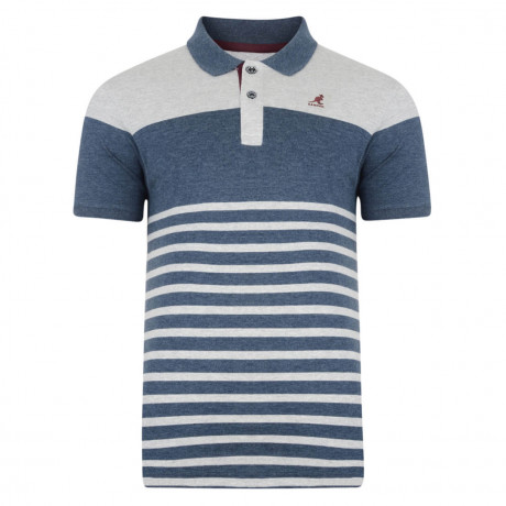 Kangol Hinton Polo Pique T-Shirt Grey Marl Image