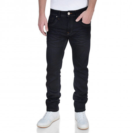 Crosshatch Slim Fit Stretch Jeans Menzo Black Image