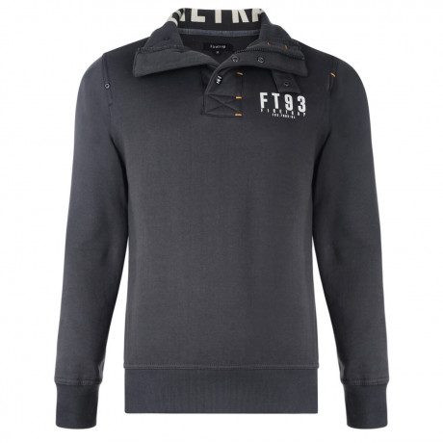 Firetrap Overhead Acland Printed Sweatshirt Dark Shadow Grey Image