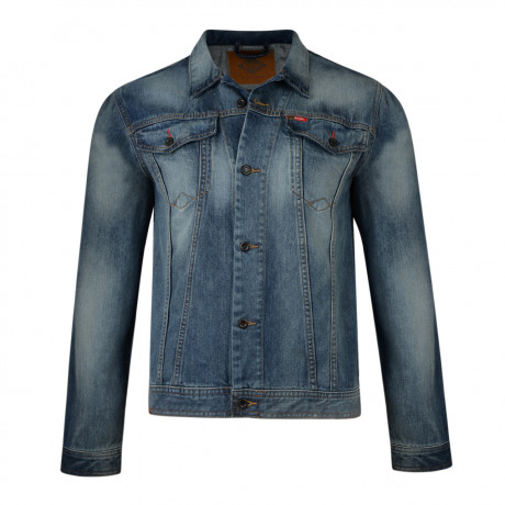 Lee Cooper Berden Denim Jacket Mid Wash Blue | Jean Scene