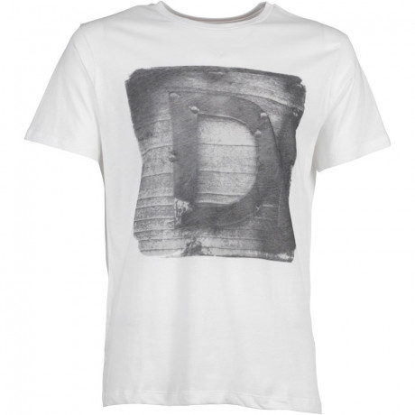Diesel T-Rules Crew Neck Print T-shirt White