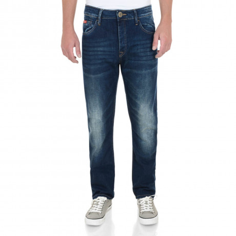 Lee Cooper Straight Fit Harry Work Jeans Faded Mid Wash Blue Image