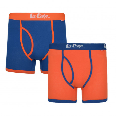 Lee Cooper Men's 2 Pack Boxer Shorts Underwear True Blue & Tiger | Jean Scene