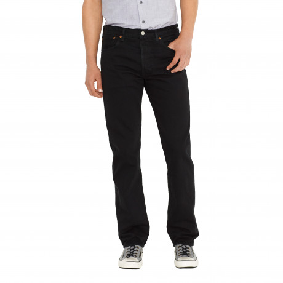 Levis 501 Denim Jeans Black | Jean Scene