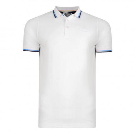Lee Cooper Polo Pique Shirt White | Jean Scene