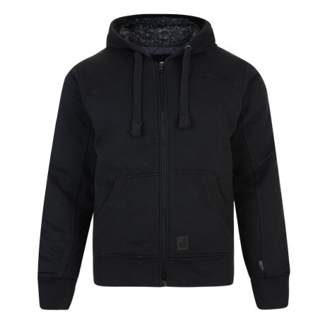 Crosshatch Mackdown Zip Up Fur Hoodie Black