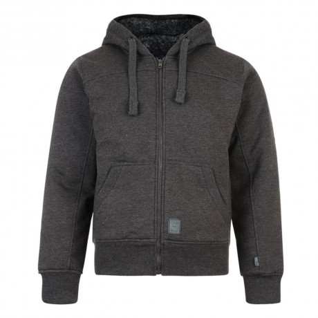 Crosshatch Mackdown Zip Up Fur Hoodie Charcoal