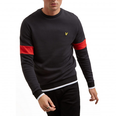 Lyle & Scott Crew Neck Men's Sweatshirt True Black | Jean Scene