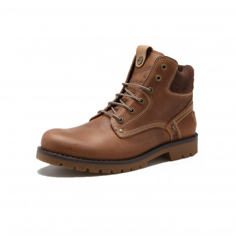 Wrangler Men's Newton High Leather Boots Brown Shoes | Jean Scene