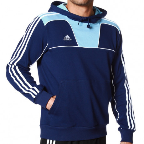 adidas Essentials Hooded Sweatshirt Blue Image