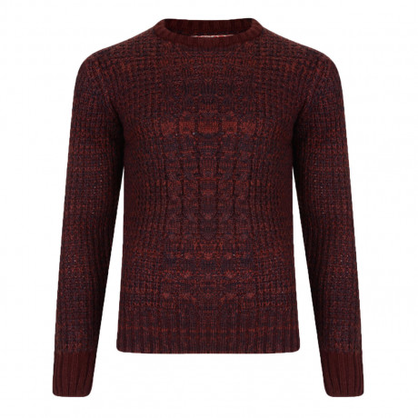 Tokyo Laundry Crew Neck Ludo Knitted Jumper Oxblood